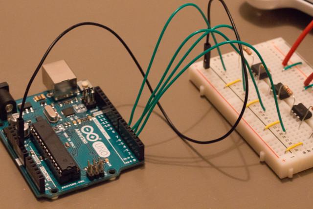 Arduino connected to a breadbord