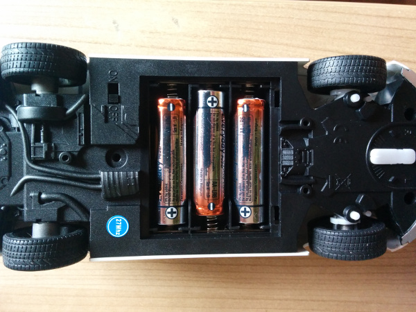 Batteries mounted under the car